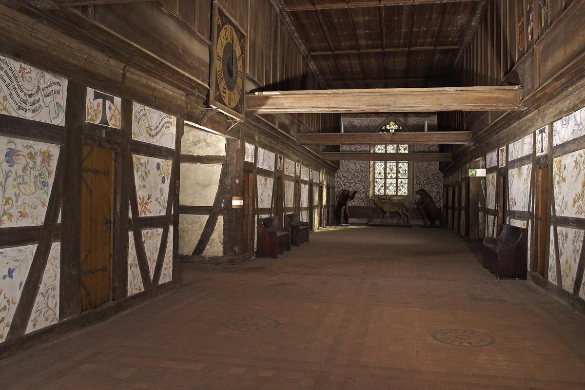 Dormitory in Bebenhausen Monastery. Image: Staatliche Schlösser und Gärten Baden-Württemberg, Arnim Weischer