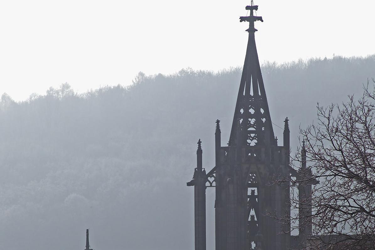Vierungsturm von Kloster Bebenhausen; Foto: Staatliche Schlösser und Gärten Baden-Württemberg, Arnim Weischer
