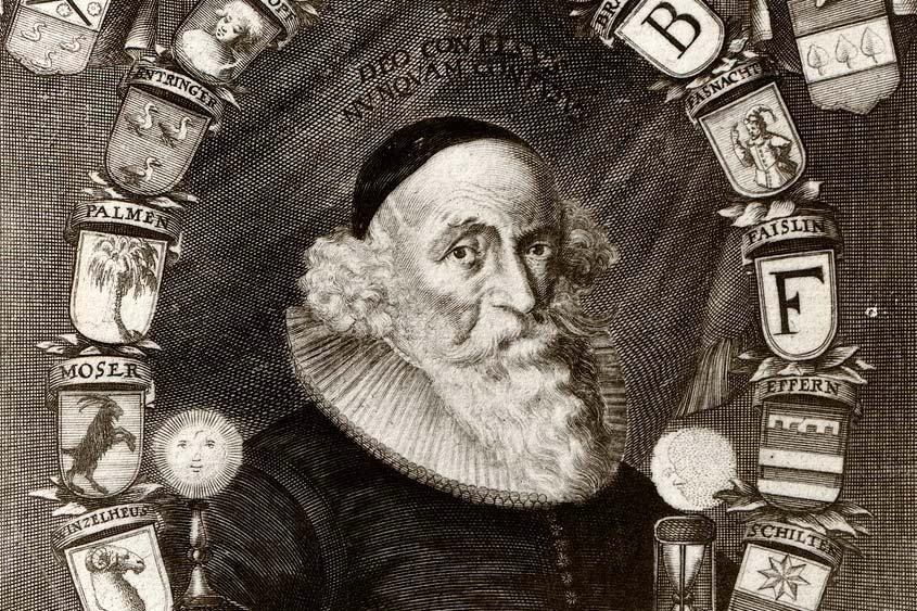 Johann Valentin Andreae, Kupferstich von Melchior Kusell um 1650; Foto: Landesmedienzentrum Baden-Württemberg, Robert Bothner