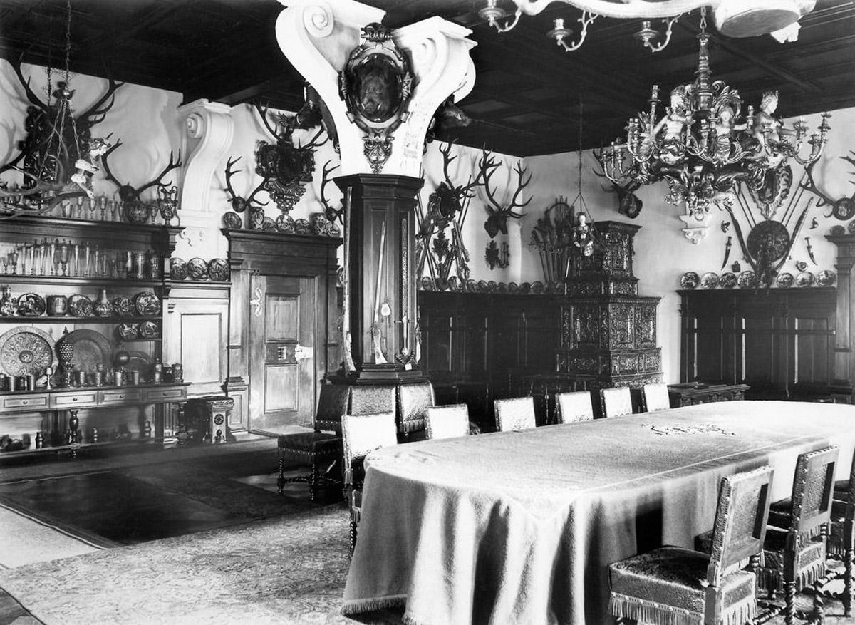 Blauer Saal im Schloss Bebenhausen, Aufnahme um 1926; Foto: Landesmedienzentrum Baden-Württemberg, Robert Bothner