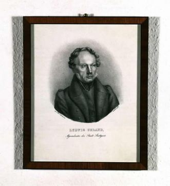 Ludwig Uhland (1787–1862) as a member of parliament, lithography of the writer circa 1850. Image: Landesmedienzentrum Baden-Württemberg, Dieter Jäger