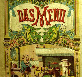 "Illustration of ""Das Menu"" (""The Menu"") by Ernst von Malortie, 1878. Image: Wikipedia, in the public domain"