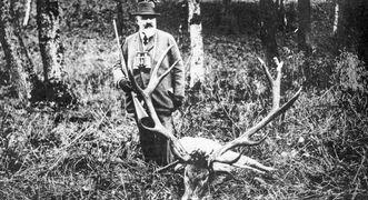 König Wilhelm II. von Württemberg auf der Jagd in Bebenhausen, Fotografie um 1910; Foto: Landesmedienzentrum Baden-Württemberg, Otto Feucht