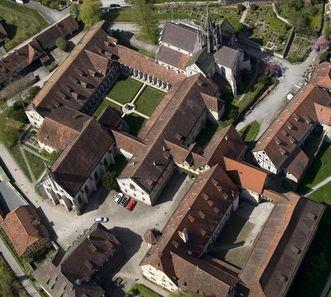 Aerial view of the monastery complex of Bebenhausen Monastery and Palace. Image: Staatliche Schlösser und Gärten Baden-Württemberg, Achim Mende