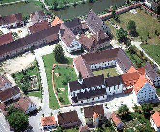 Aerial view of Heiligkreuztal Monastery. Image: Landesmedienzentrum Baden-Württemberg, Sven Grenzemann
