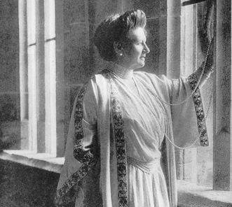 Queen Charlotte von Württemberg in Bebenhausen Palace, photograph circa 1920. Scan: Landesmedienzentrum Baden-Württemberg, credit unknown