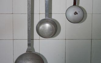 Kitchen spoon in the palace kitchen of Bebenhausen Palace. Image: Staatliche Schlösser und Gärten Baden-Württemberg, Janna Almeida