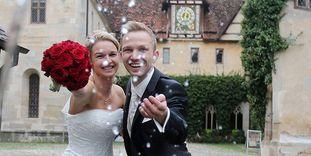 Brautpaar in Kloster und Schloss Bebenhausen