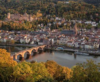 Schloss Heidelberg mit Altstadt