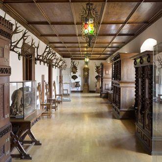 Sogenannter Hirschgang im Schloss Bebenhausen; Foto: Staatliche Schlösser und Gärten Baden-Württemberg, Christoph Hermann