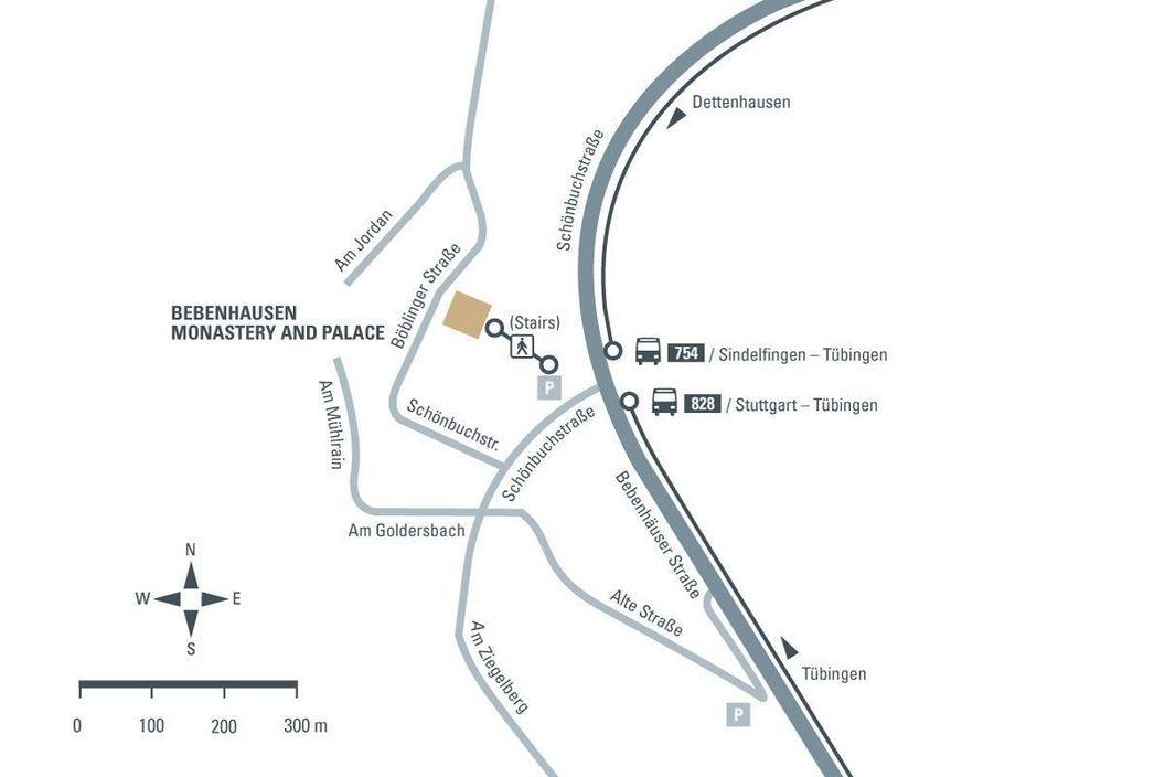 Directions to Bebenhausen Monastery and Palace, illustration: Staatliche Schlösser und Gärten Baden-Württemberg, JUNG:Kommunikation