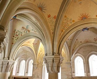 Vault in the chapter house of Bebenhausen Monastery and Palace. Image: Staatliche Schlösser und Gärten Baden-Württemberg, Angela Hammer