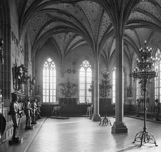 Historic image of the summer refectory from circa 1930, Bebenhausen Monastery. Image: Landesmedienzentrum Baden-Württemberg, Robert Bothner