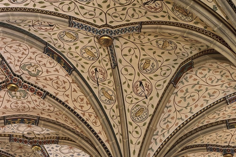 Gewölbe im Sommerrefektotrium von Kloster Bebenhausen; Foto: Staatliche Schlösser und Gärten Baden-Württemberg, Steffen Hauswirth