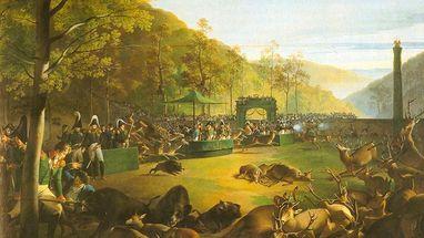 Dianenfest bei Kloster Bebenhausen, Gemälde von Johann Baptist Seele; Foto: Württembergische Landesbibliothek