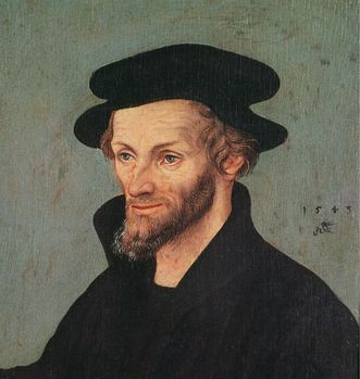 Philipp Melanchthon, painting by Lucas Cranach the Elder. Image: Wikipedia, in the public domain