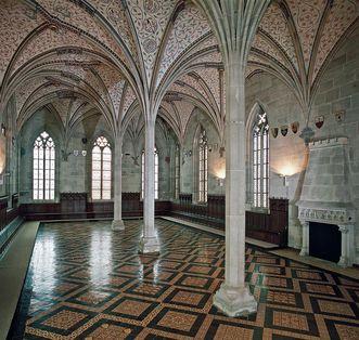 Blick ins Sommerrefektorium von Kloster Bebenhausen