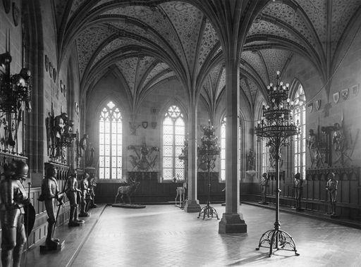 Sommerrefektorium im Kloster und Schloss Bebenhausen, Aufnahme um 1930