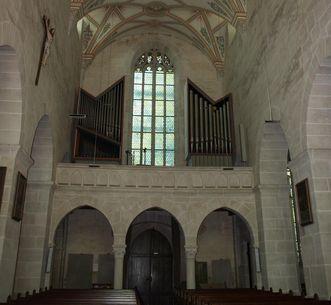 Church interior from the east to the west, Bebenhausen Monastery and Palace. Image: Staatliche Schlösser und Gärten Baden-Württemberg, Bebenhausen local administration