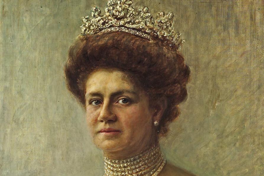Portrait of Queen Charlotte von Württemberg, circa 1910. Image: Staatliche Schlösser und Gärten Baden-Württemberg, Arnim Weischer