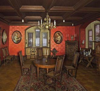 Breakfast room in Bebenhausen Palace. Image: Staatliche Schlösser und Gärten Baden-Württemberg, Arnim Weischer