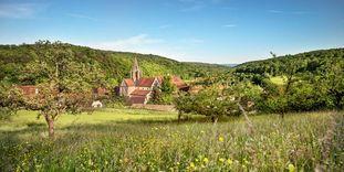 Bebenhausen Monastery in the landscape of Schönbuch