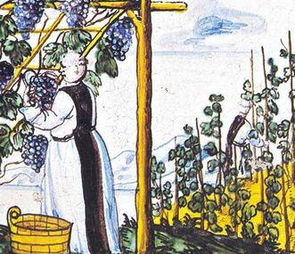 Detail eines Kachelofens im Kloster Salem; Foto: Staatliche Schlösser und Gärten Baden-Württemberg, Ortsverwaltung Salem