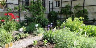 The herb garden at Bebenhausen Monastery
