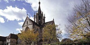 Ostseite mit Kirche von Kloster Bebenhausen