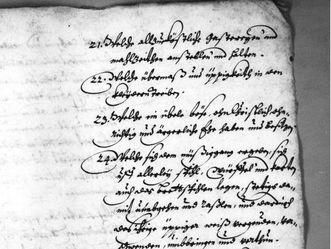 Synodalbericht, den Kirchenkonvent betreffend, 1644
